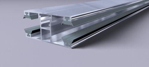 Verlegeprofil Mittelprofil für Stegplatten 60mm Breite Alu