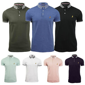 New-Mens-Polo-T-Shirt-Brave-Soul-Ribbed-Collar-Short-Sleeve-Casual-Top-S-M-L-XL