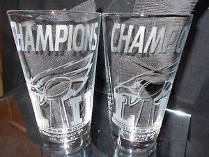 Philadelphia Eagles etched beer glass