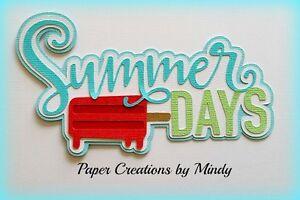 Craftecafe Mindy Summer Days boy girl title premade paper piecing scrapbook