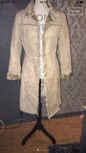 Détails sur Manteau veste Femme C&A Beige Taille 40
