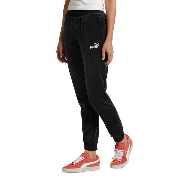 PUMA Essentials XL Black Velour Pants for sale online   eBay