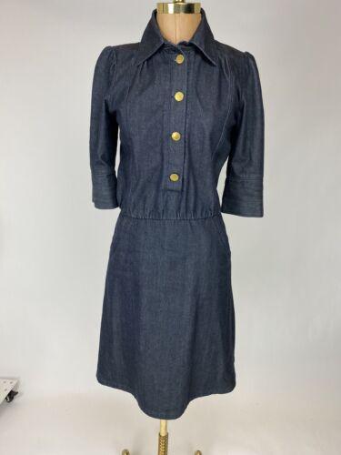 Designer Chloe Dark wash denim dress size Italian