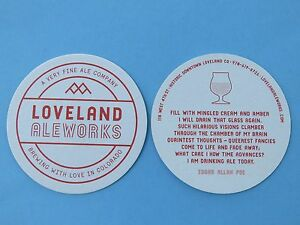 2 Bière Brewery Dessous De Verre ~loveland Aleworks~ A Très Fine Ale Company~ Om8wnc0g-07214408-244226269