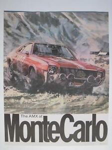 AMC AMX @ Monte Carlo dealership racing poster man cave FREE SHIPPING