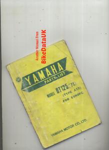 Yamaha-DT125-1974-gt-gt-Genuine-Parts-List-Catalogue-Manual-Book-DT-125-AT2-BZ85