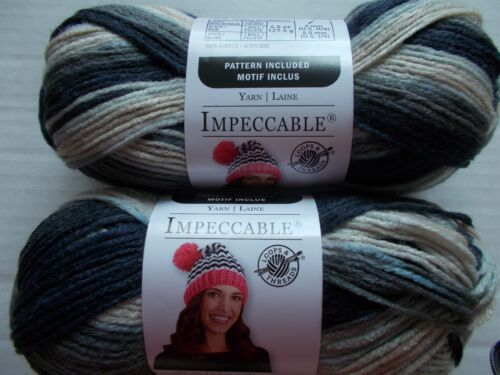 Loops/&Threads Impeccable yarn lot of 2 187 yards ea Mirage Gray Variegated