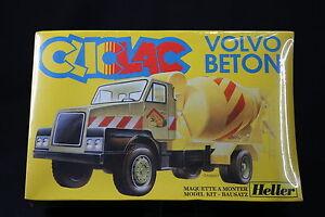 Yq073 Heller 1/48 Maquette Cliclac Camion 2019 Volvo N12 Béton Tp Toupie