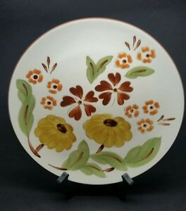 VINTAGE-Stangl-First-Love-10-034-Dinner-Plate-Dish-w-Daisy-Flowers-RARE