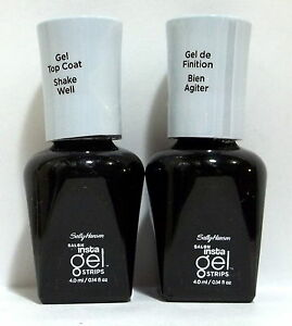 Lot-of-2-Sally-Hansen-Gel-Color-Soak-Off-Nail-Polish-NWOB-TOP-COAT-Clear-Step-3