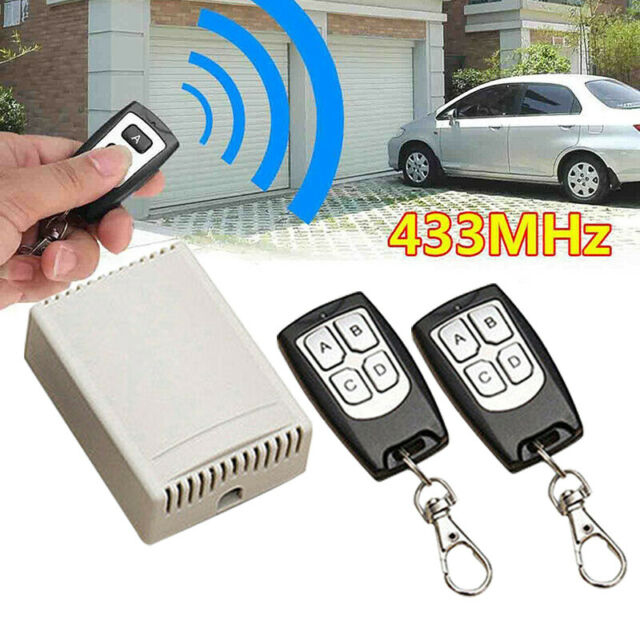DC12V 4CH 433Mhz Wireless Receiver Relay Switch Garage Door With Remote Control