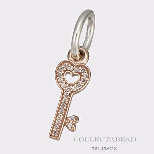 5e1df7c4d Authentic PANDORA 791358 CZ Rose Gold Key Symbol of Trust Dangle Pendant  for sale online   eBay