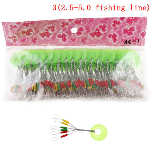 100pcs Fishing Stoppers Bobber Rubber Silicone Space Bean Fishing tac HK PLF