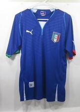 PUMA  ITALIA FIGC FOOTBALL BLUE AUTHENTIC   JERSEY  size L
