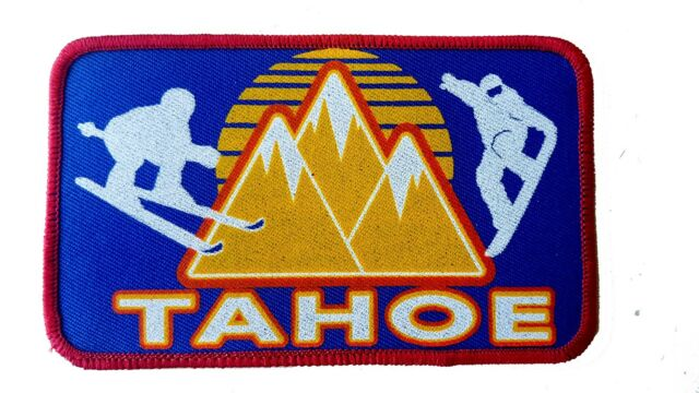 Tahoe California Lake  Embroidered Patch 3x5  Iron On Ski Snowboard Neon