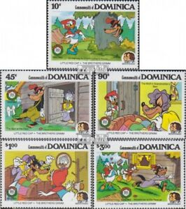 Never Hinged 1985 Walt-disne Firm In Structure Objective Dominica 939-943 complete.issue. Unmounted Mint