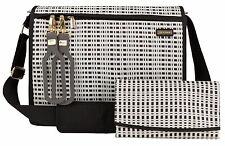 JJ Cole All Around Baby Diaper Bag Black & Cream with Changing Pad NEW 2016