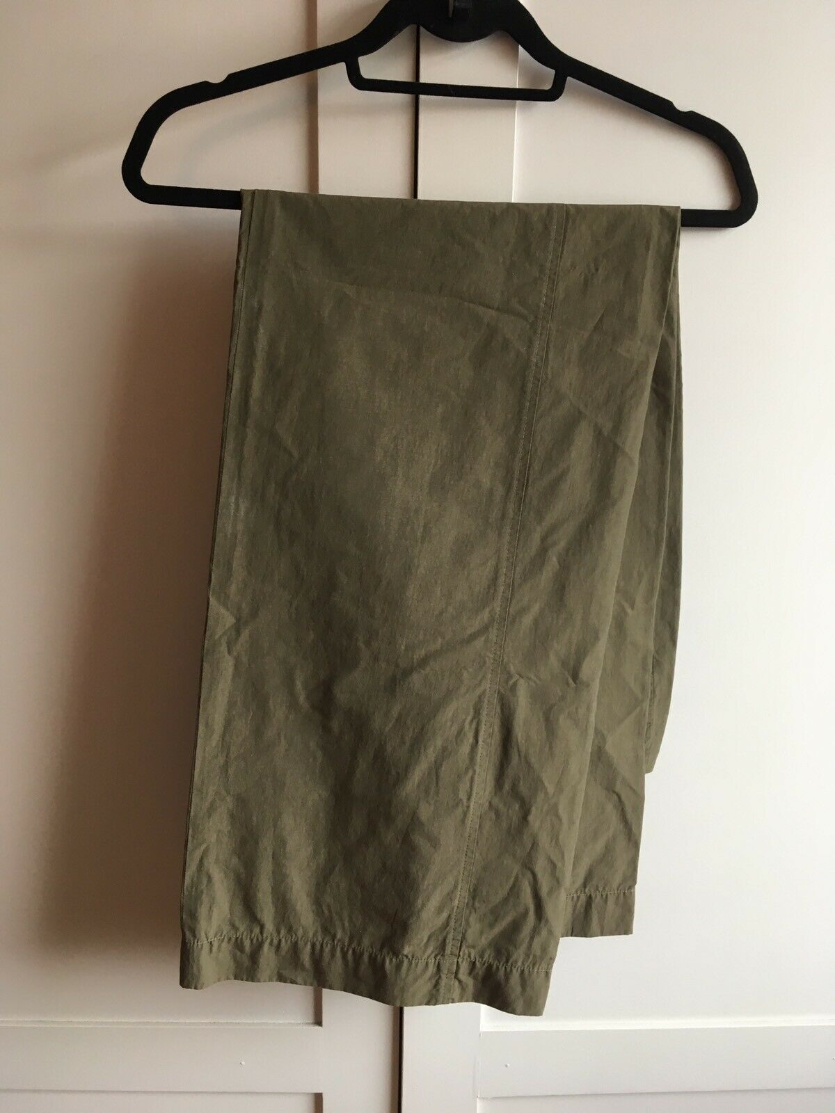 Belle Sportmax jambe grand pantalon, sz 42 UK 14, sheeny bronze