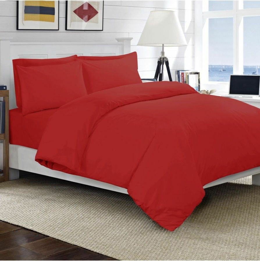 1000 Thread Count Egyptian Cotton Deep Pkt Bedding Items All Sizes Red color