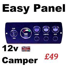 Camper Panel de control con 12v Monitor Fundido Auto construir la condición de la batería de 12 voltios