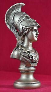 Athena-bust-greek-statue-wisdom-gold-patina-goddess-NEW-Free-Shipping-Tracking