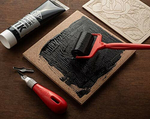 Essdee COMPLETE Lino Cutting /& Block Printing Kit More Tiles Cutter Stamp Ink