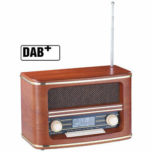 auvisio digitales nostalgie stereo radio mit dab. Black Bedroom Furniture Sets. Home Design Ideas