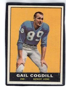 1961-GAIL-COGDILL-Topps-034-ROOKIE-034-Football-Card-32-DETROIT-LIONS