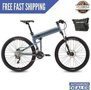 """Montague Paratrooper Pro 18/"""" Mountain Folding Bike with FREE Carry Case"""