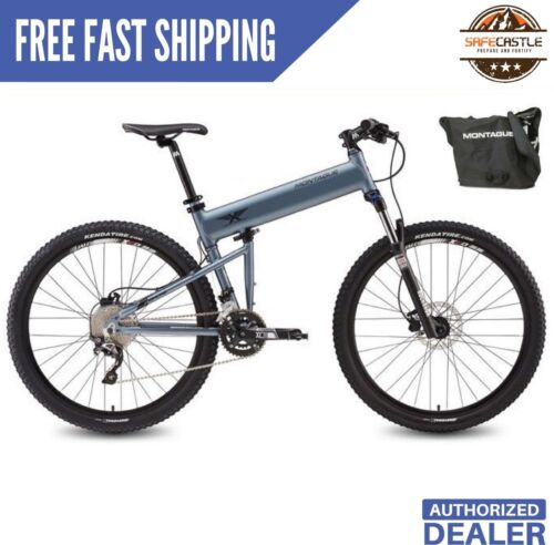 "Montague Paratrooper Highline 18/"" Mountain Folding Bike w FREE Carry Bag"