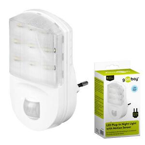 LED-Nachtlicht-mit-Bewegungsmelder-fuer-Steckdose-9-LEDs-Nachtlicht-Nachtlampe