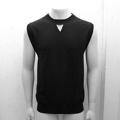 NEW Mens Dior Homme Black Sleeveless Jumper Sweater Knitwear GENUINE RRP: £230