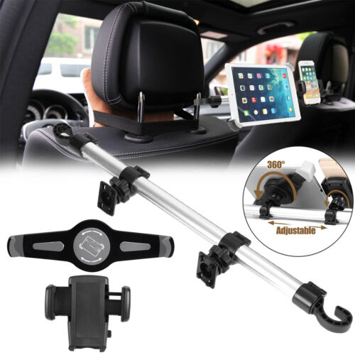 9/'/'-14/'/' Tablets 360º Rotating Car Headrest Seat Holder Mount Stand For iPhone 8