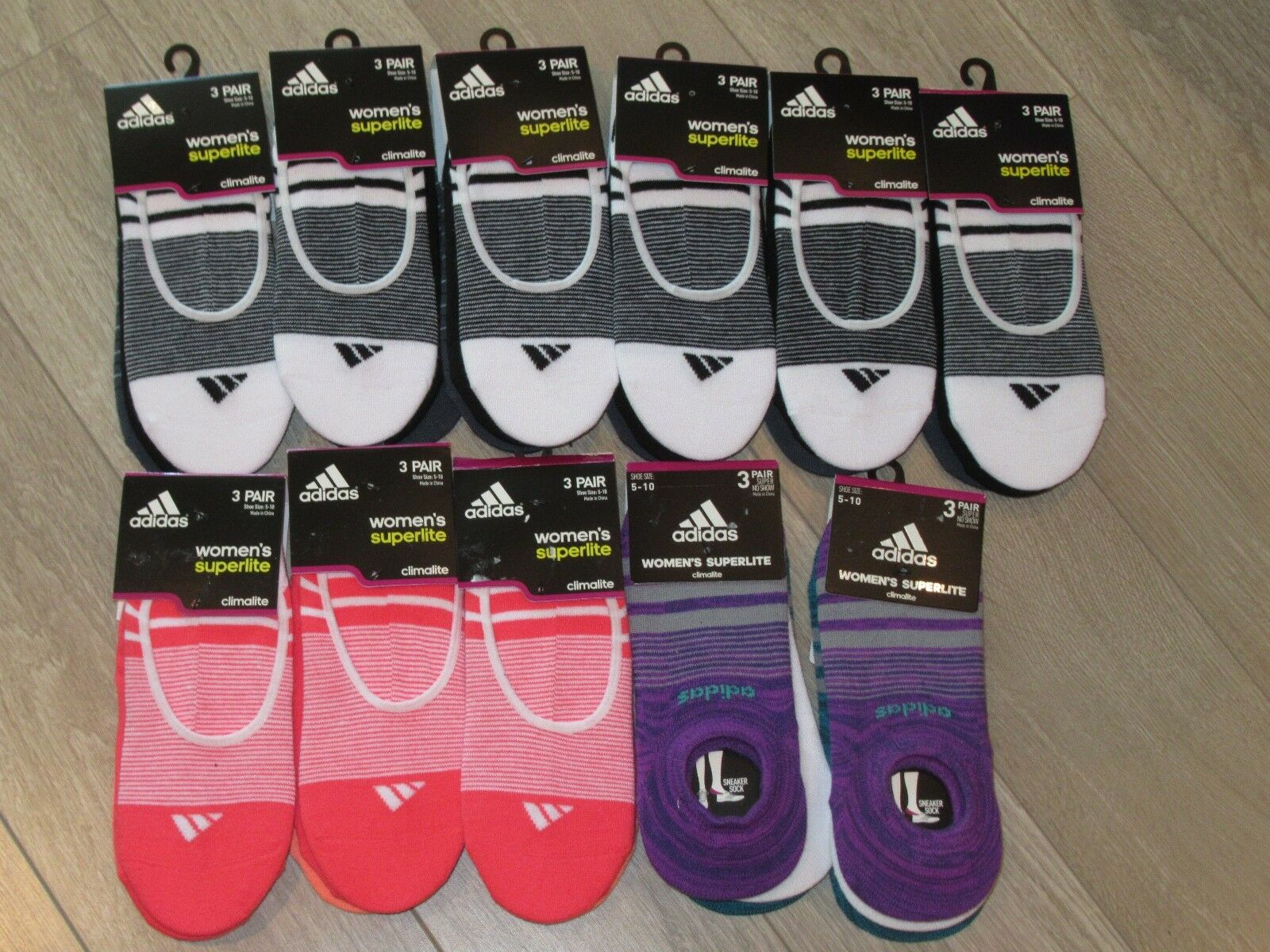 Adidas Superlite Climalite Womens No Show Socken ~~ 33 Paar ~~
