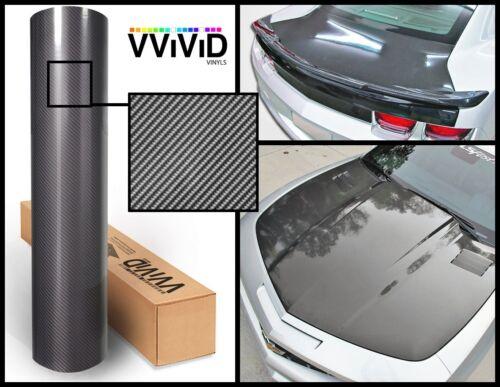 Dark grey carbon hi gloss tech art laminated vinyl car wrap 2ft x 5ft 3 layer