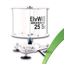 60W Einsteiger Windrad ElvWiS ® ADVENTURE 25SE mobil zerlegbar Windrotor VAWT