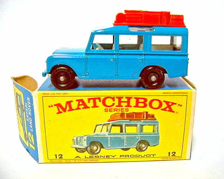 Matchbox 1-75 serie 12c Land Rover Safari blu Top en  e  box