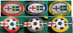 England-v-Sweden-2006-World-Cup-Koln-20-June-2006-Oval-Football-Pin-Badge