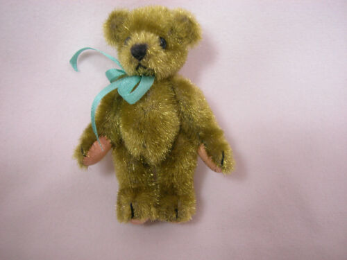 "World of Miniature Bears 2.5/"" Plush Bear Avocado #357 Vintage Fabrics"