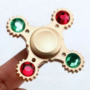 4Gear-Lager-Hand-Spinner-EDC-Fokus-Autismus-Spielzeug-Stress-Reducer-W-Crystal