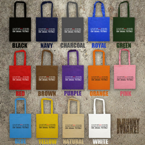 Blue yellow natural Alf orange Shopper Cruelty red pink bright purple Free Testing navy Animal Stop White Bag Tote royal green Rights charcoal Vegan brown 1wpRWHzq