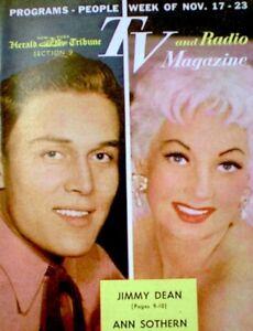 TV-Guide-1957-Jimmy-Dean-Ann-Sothern-Regional-TV-amp-Radio-Magazine-Vintage-EX-COA