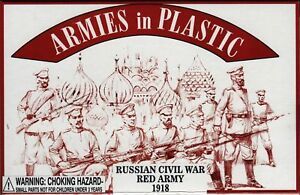 ARMIES-IN-PLASTIC-5483-RUSSIAN-CIVIL-WAR-RED-ARMY-20-Toy-Soldiers-MIB-FREE-SHIP