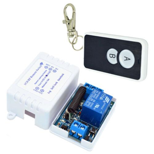 433Mhz Wireless Remote Control Switch 5V//12V//24V Relay Module Light Dimmer