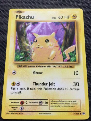 XY EVOLUTIONS PIKACHU 35//108 COMMON Pokemon