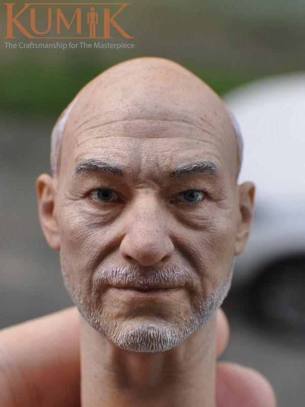 KUMIK 1 6 6 6 KM16-56 Old Charles Francis Xavier Head Carving Mutant Professor Head 5199a8