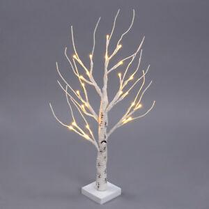 Pre-Illuminato-Argento-Albero-di-Betulla-Luci-LED-Lampada-da-Tavolo-Notte-Pasqua