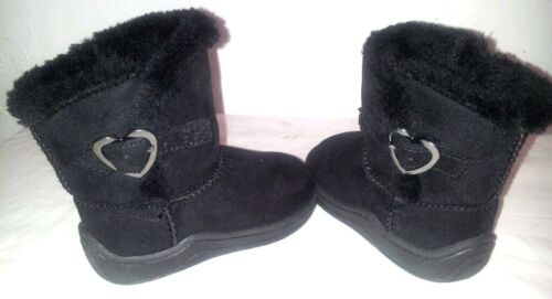 Baby//Toddler Size 2,3,4,5,6 BLACK PREMIUM Bootie  Comfy Fur Lined GARANIMALS