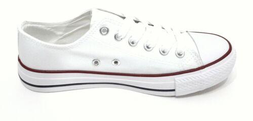 Zapatillas Blancas Mujer Hombre Deportivas Canvas Lona Sin Logotipos T.35 T.45
