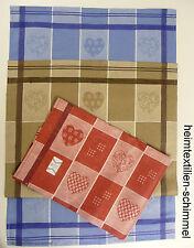 3er Set Geschirrtuch HALBLEINEN Küchentuch Handtuch Küchenhandtuch HERZEN Küche